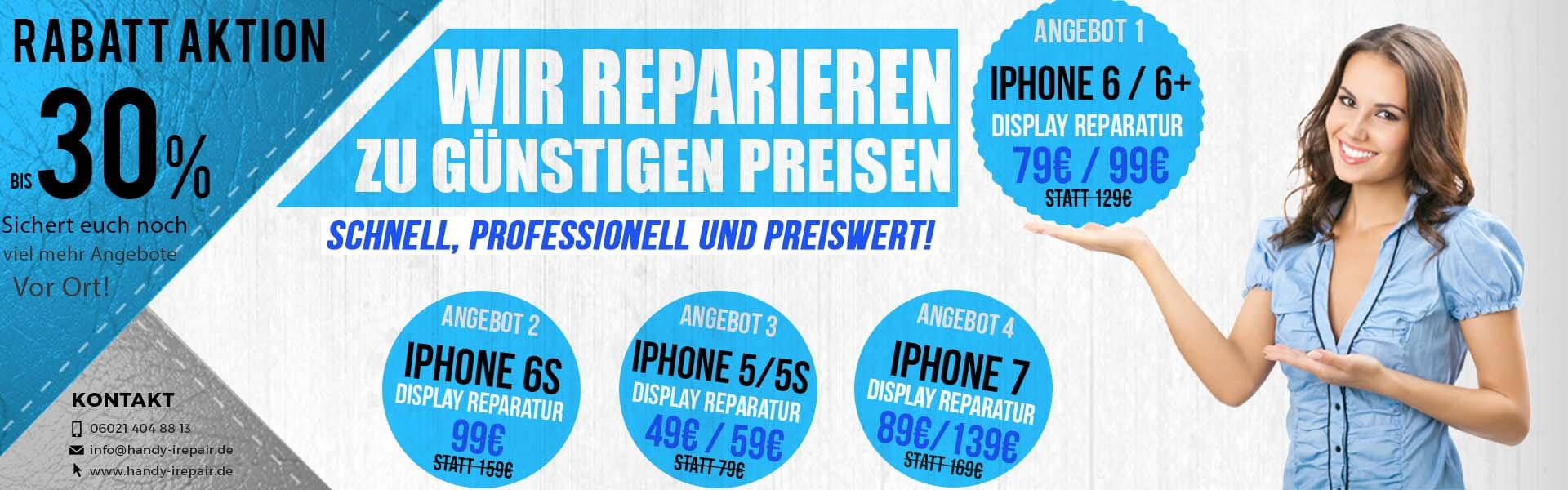 iPhone Display Reparatur - Rabatt Aktions Preise