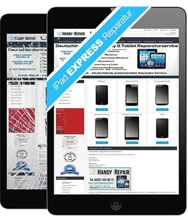 iPad Tablet Touchscreen, Display & Glas Express Reparatur